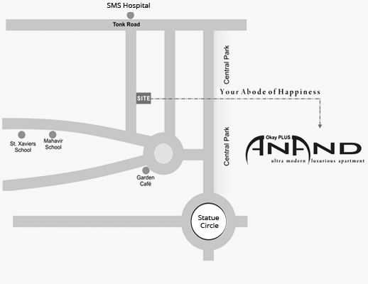 OkayPlus Anand Location Map